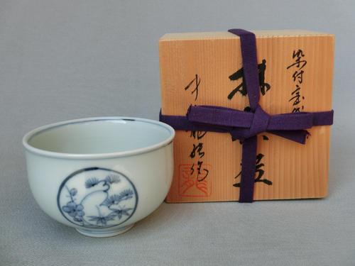 【磁器】【抹茶碗/茶道具】【ギフト/プレゼント/お祝い/内祝/引出物】染付抹茶碗