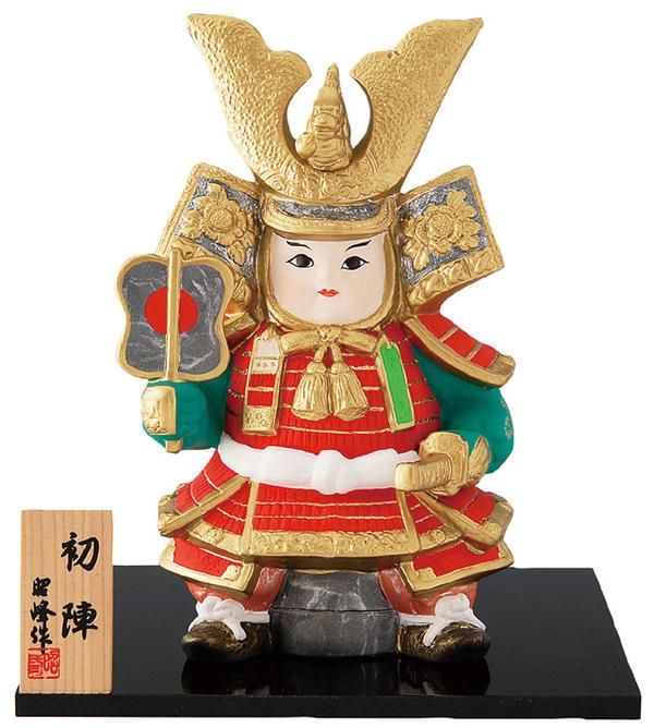【五月人形/端午/節句/こいのぼり/兜】【置物】初陣童大将