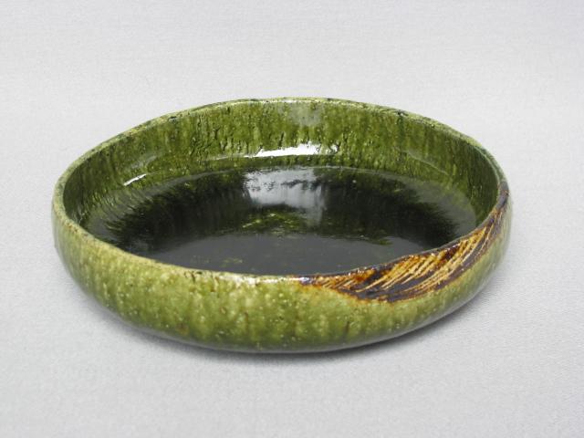 【瀬戸焼/せとやき/せともの】【菓子器/盛鉢】織部丸菓子鉢