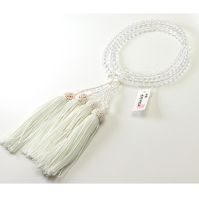 格安 最高級の玉のみを使用した数珠 女性用 高級念珠 数珠2輪 トラスト 本水晶共仕立て 正絹頭付房 本格数珠 女性 数珠 念珠 KL027 高級数珠