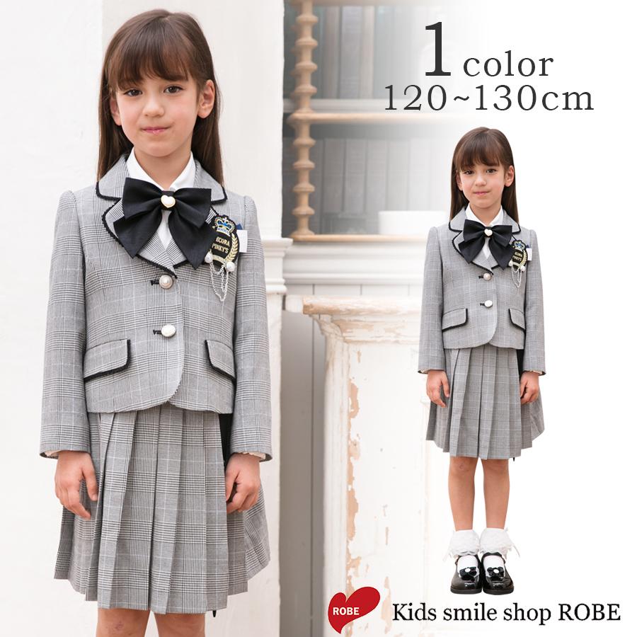 45b1825dddf1a 楽天市場 入学式 スーツ 女の子 小学生 卒園式 子供服 5点セット 120 ...