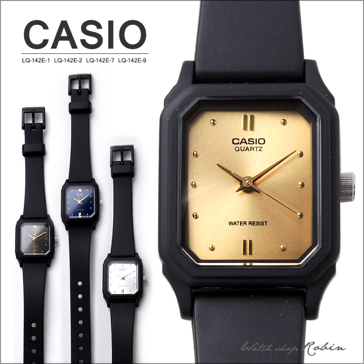 3bb957fe18 楽天市場】CASIO カシオ アナログ腕時計 レディース 生活防水 ブラック ...