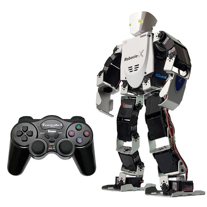 (セット) 二足歩行ロボット Robovie-X (組み立てキット版) コントローラセット [ラジコン] 【ヴイストン Vstone】