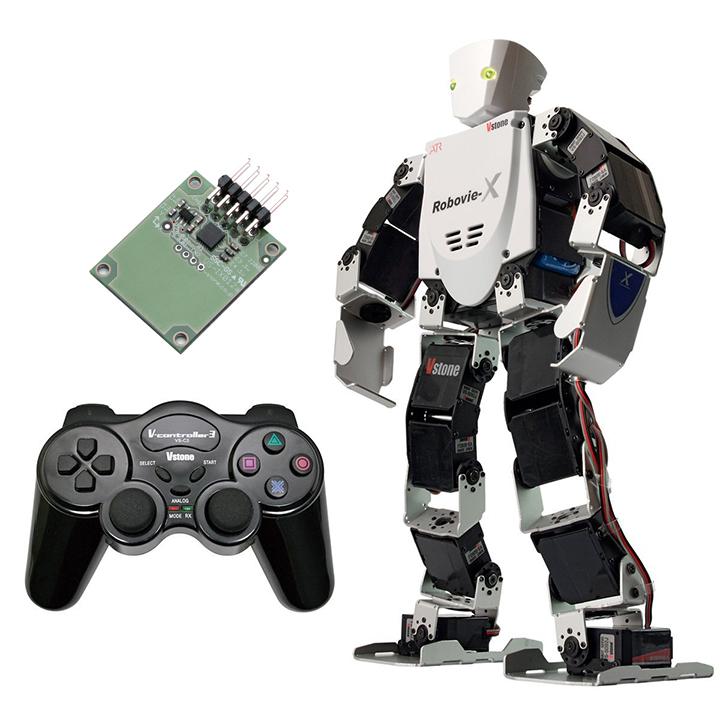 (セット) 二足歩行ロボット Robovie-X (組立完成版) コンプリートセット [ラジコン] 【ヴイストン Vstone】