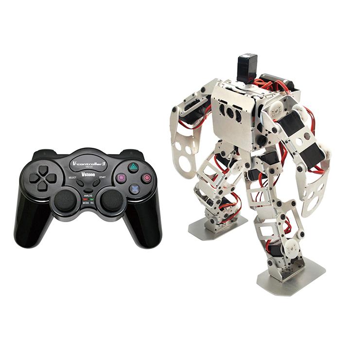 (セット) 二足歩行ロボット Robovie-nano (組み立てキット版) コントローラーセット [ラジコン] 【ヴイストン Vstone】