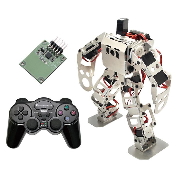 (セット) 二足歩行ロボット Robovie-nano (組み立てキット版) スペシャルセット [ラジコン] 【ヴイストン Vstone】