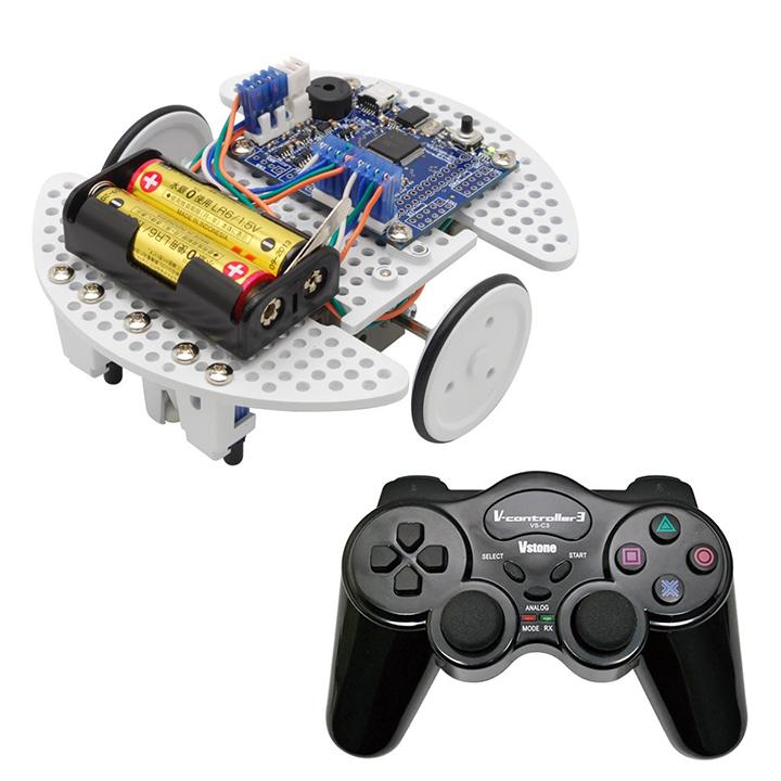プログラミング教育用ロボット (セット) ビュート ローバー H8 コントローラセット [学習教材] 【ヴイストン Vstone】