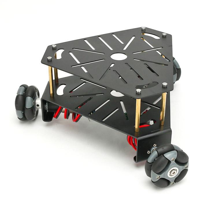 3WD48mmオムニホイールロボットプラットフォーム(エンコーダ付) 黒 黒 (15001B)[全方向移動台車]【NEXUS robot】 robot】, 【本物新品保証】:68d95106 --- officewill.xsrv.jp