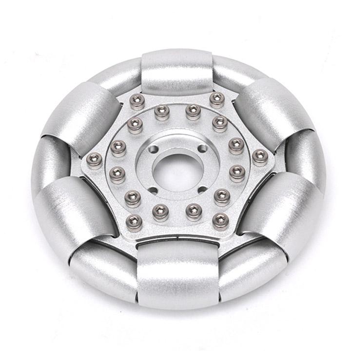なめらかオムニホイール(Φ127mm)アルミ製[台車・タイヤ] 【ヴイストン Vstone】
