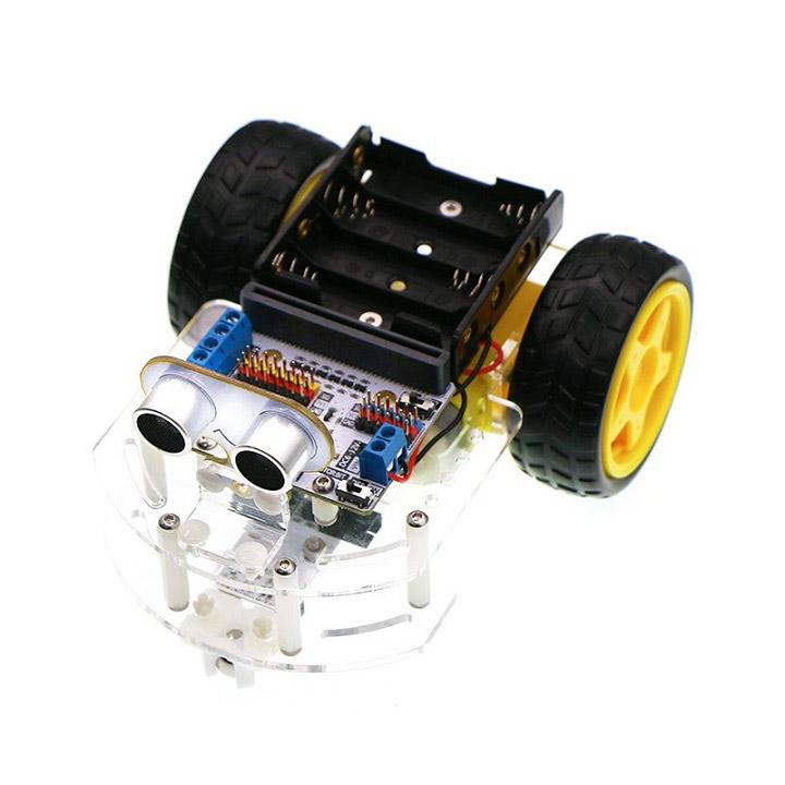 Motor:bit Acrylic Smart Car Kit (with micro:bit board )マイクロビットアクリルカーキット【micro:bit】 【ELECFREAKS】