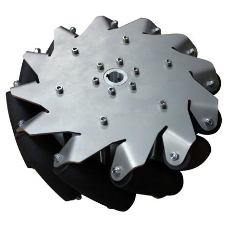254mm ステンレスメカナムホイール(右) (14141R)(旧14140) [車輪・ホイール] 【NEXUS robot】
