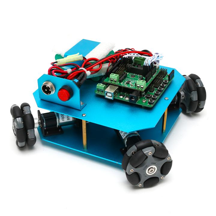 4WD58mmオムニホイールロボット(10020)[台車ロボット・研究開発] 【NEXUS robot】