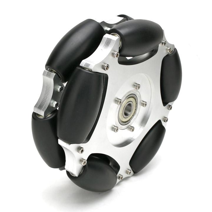 254mmダブルアルミオムニホイール センターベアリング(ベアリングローラー) (14147) [車輪・ホイール]【NEXUS robot】