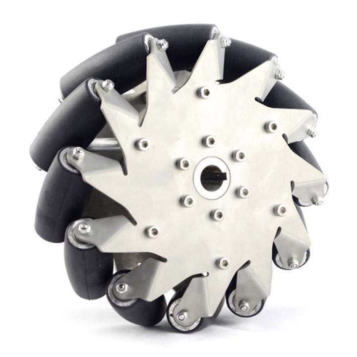 203mmステンレスメカナムホイール(ラバーロール)(右) (14151R) (旧14150) [車輪・ホイール] 【NEXUS robot】