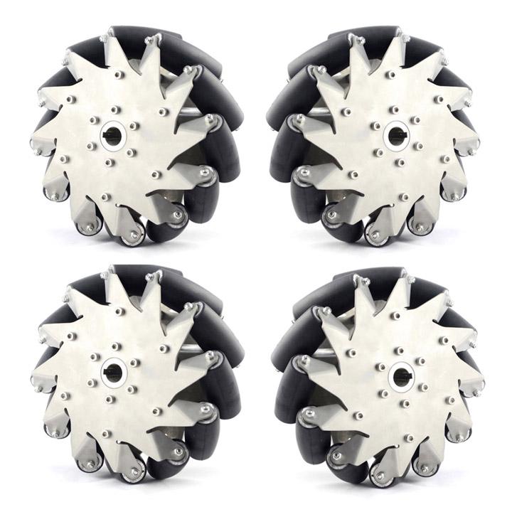 203mmステンレスメカナムホイール(ラバーロール)4個セット (14151) (14151) [車輪・ホイール]【NEXUS robot【NEXUS】, タワラモトチョウ:98d33560 --- officewill.xsrv.jp