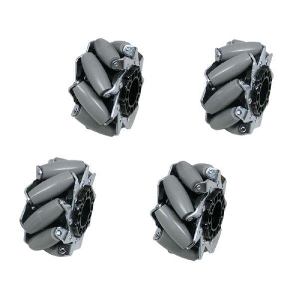 4インチMecanum HDホイールセット(左2、右2)