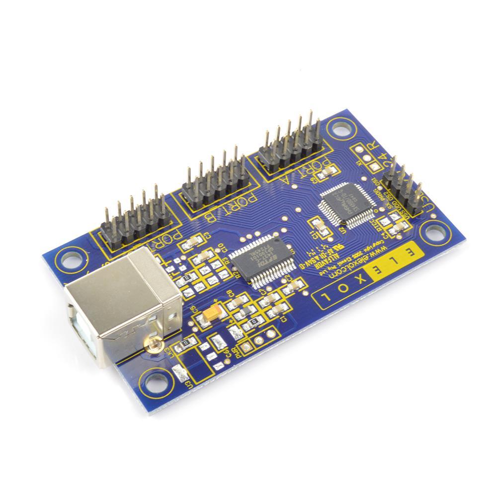 Elexol USB デジタル I / O 24 ピン・インターフェース
