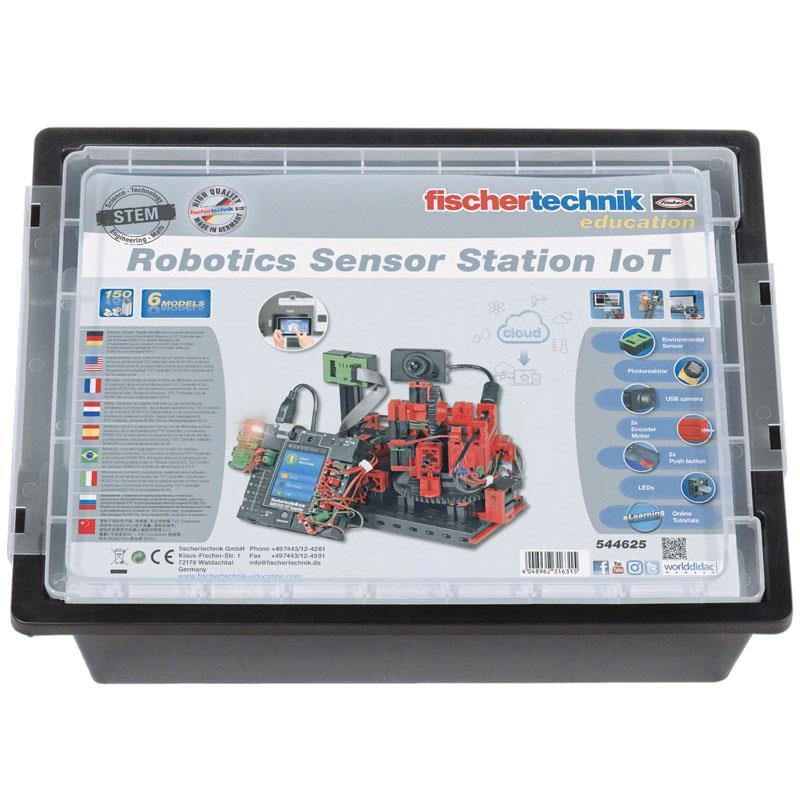Fischertechnik RoboticsセンサーステーションIoTセット、TXTコントローラーおよび電源付き