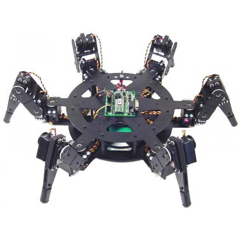 Lynxmotion BH3-Rヘキサポッドロボットキット(BotBoarduino-645MG) - BH3RCAU-BLK