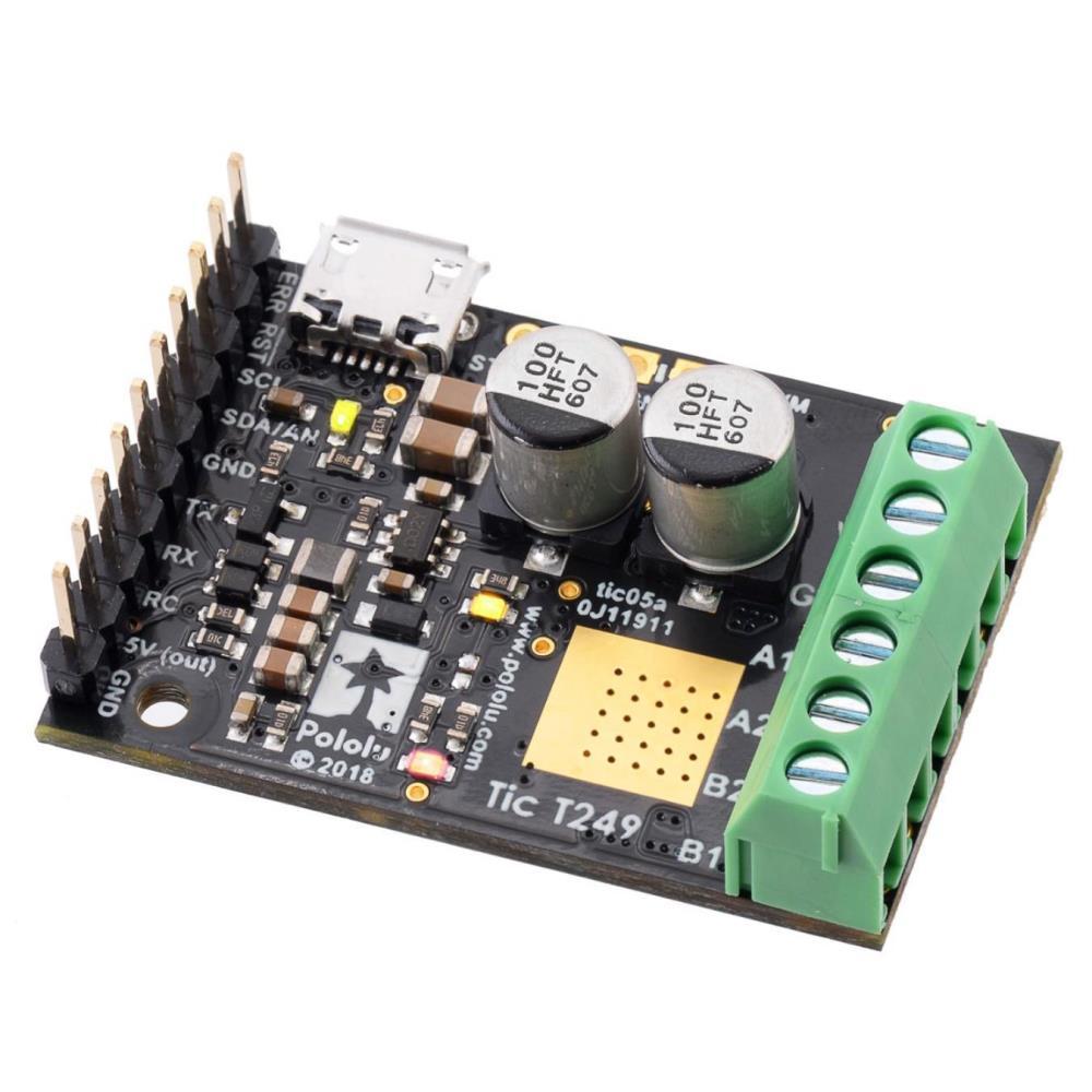 Tic T249 USBマルチインターフェースステッピングモーターコントローラー(はんだ付け)
