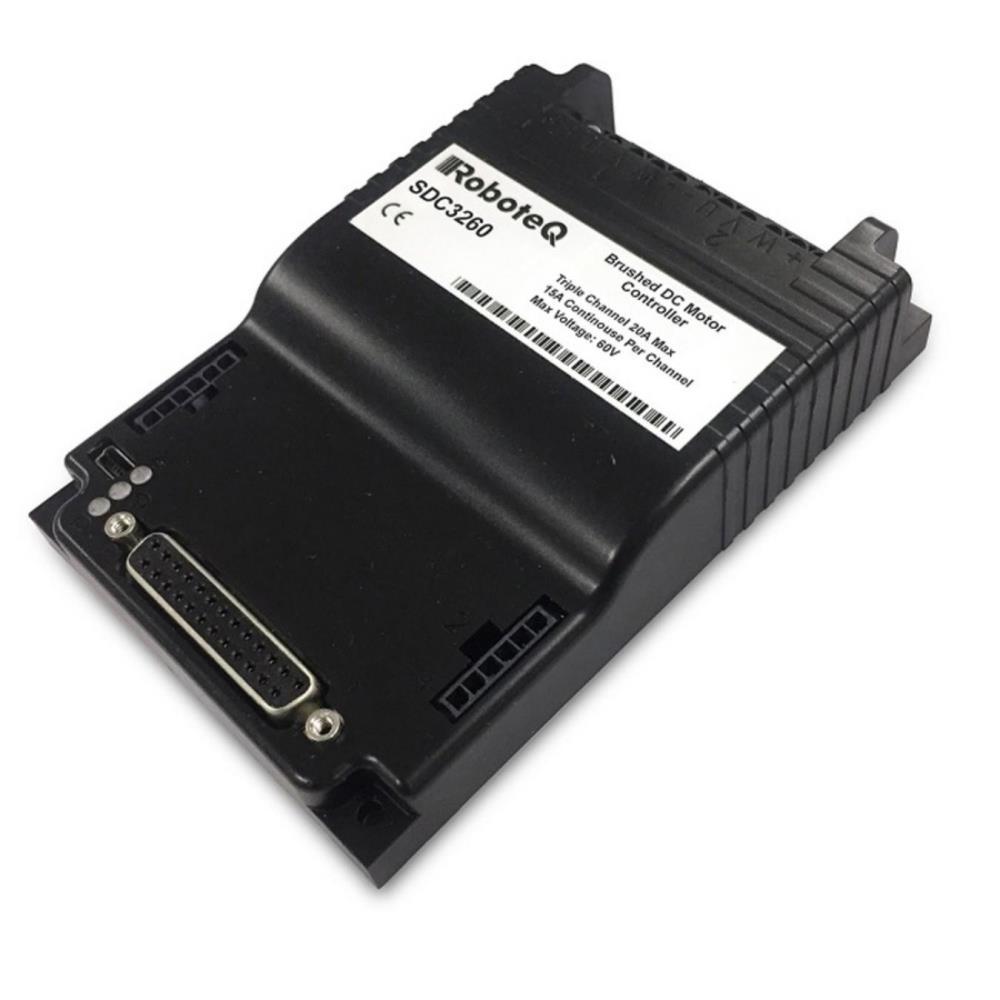 SDC3260 60V 3x15A ブラシ付きDCモータコントローラ