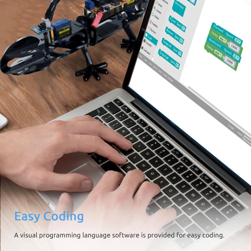 SunFounder DIYサイボーグロボット トカゲ