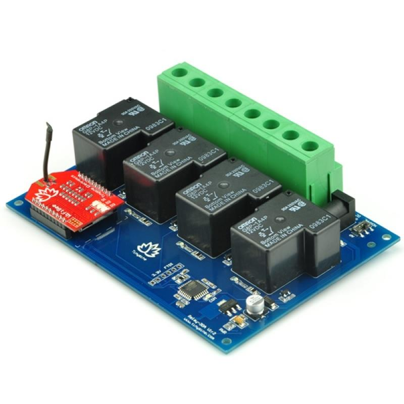 TSRW430 4チャンネル WiFi 30Aリレーボード(エンクロージャあり)