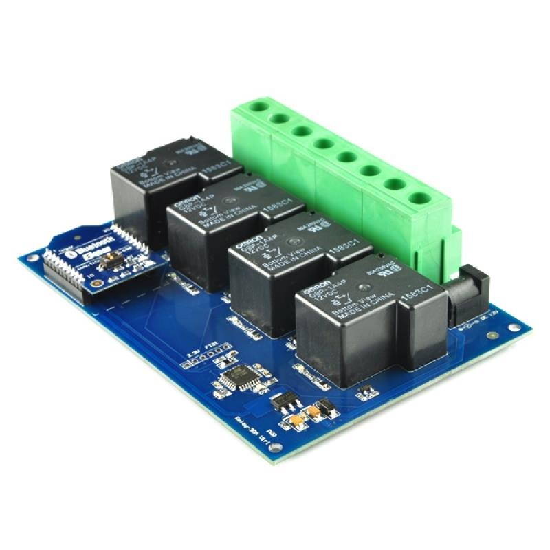 TSRB430 4チャンネル Bluetooth 30Aリレーボード エンクロージャ付
