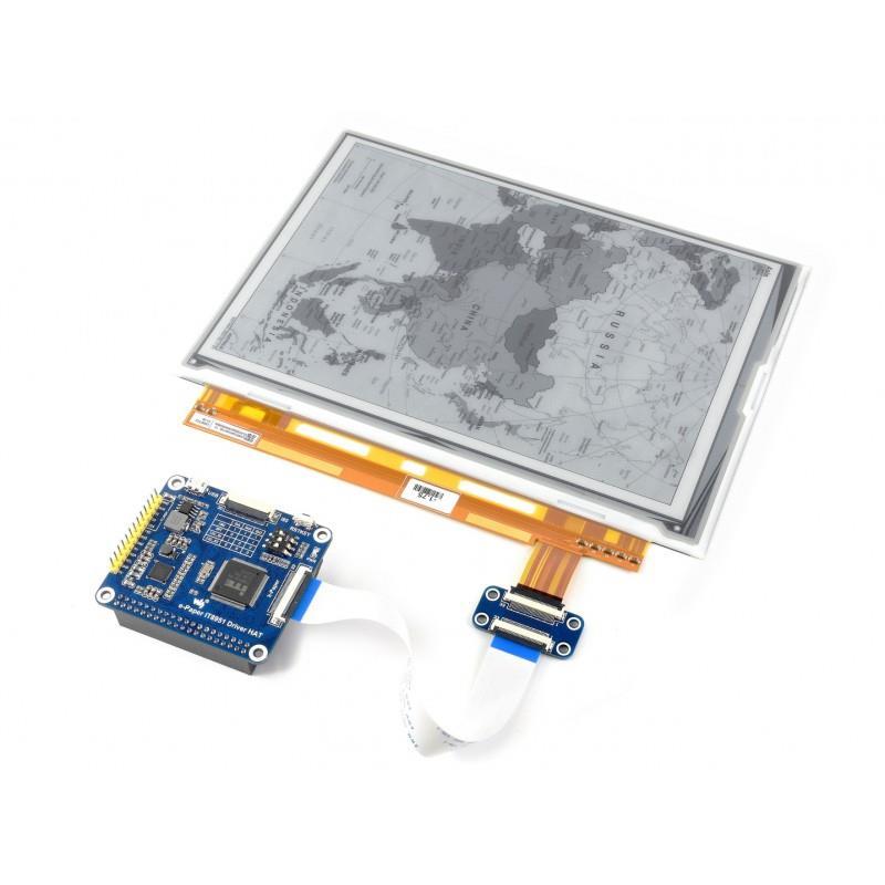 Waveshare ラズベリーパイ用1200 x 825、9.7インチEインクディスプレイHAT