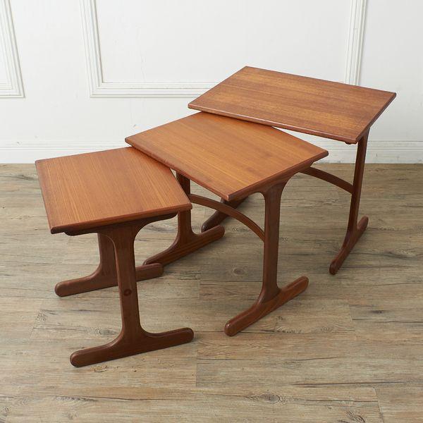 IZ35923A★G-PLAN ネストテーブル イギリス ジープラン 英国 ヴィンテージ チーク 木製 ローテーブル サイドテーブル ナイトテーブル