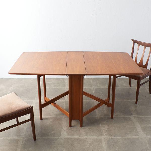IZ39326A★McINTOSH ドロップリーフ ダイニングテーブル ゲートレッグテーブル バタフライテーブル マッキントッシュ チーク 英国 木製