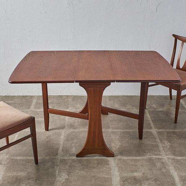 IZ40075A★G-PLAN Fresco ダイニングテーブル バタフライテーブル ジープラン フレスコ ゲートレッグテーブル ドロップリーフ チーク 木製