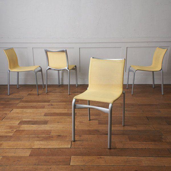 アンティーク ヴィンテージインテリアショップRoccaより厳選されたセレクトアイテムをお届け IZ42267O 定価36万 4脚セット Cassina ixc Alias 在庫一掃売り切りセール ダイニングチェア アームレス スタッキング チェア 返品送料無料 HIGHFRAME イタリア カッシーナ 椅子