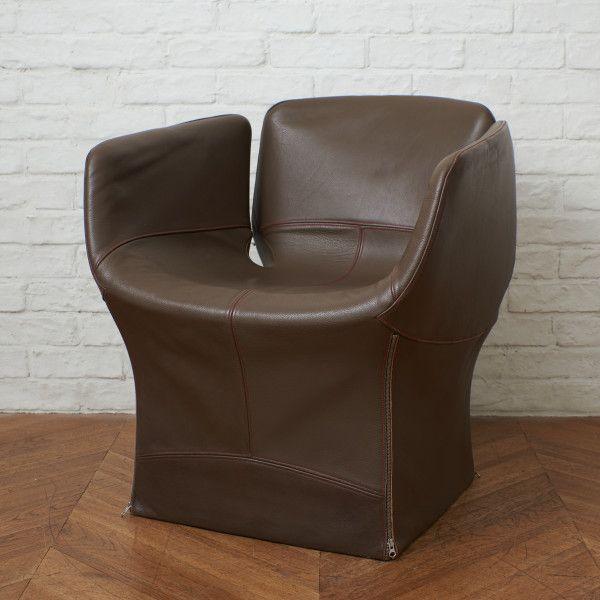 アンティーク ヴィンテージインテリアショップRoccaより厳選されたセレクトアイテムをお届け IZ50489F MOROSO ブルーミー アームチェア [宅送] 本革 シングルソファ 豪華な ラウンジチェア イタリア モローゾ BLOOMY モダン Urquiola 椅子 Patricia