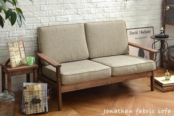 Jonathan Jonathan Sofa Retro Natural Café Two Seat Fabric Sofa Furniture  Interior Living Junk Shabby Sofa Couch 2 P Sofa 2 Person Sofa Couch 2  Person Sofa ...