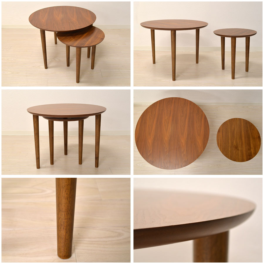 Round nesting coffee table elegant coffee table awesome for Modern nest of coffee tables