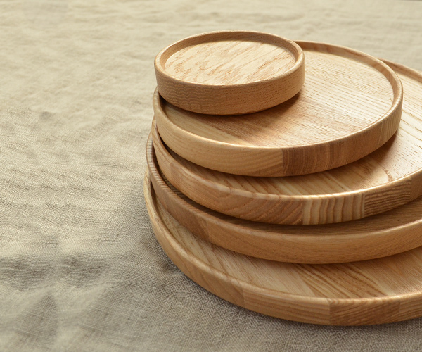 HASAMI PORCELAIN HP022 Wood Tray diameter 8.5 cm (wood solid wood natural tray tray tray ash simple natural Scandinavian modern stacking storage kitchen nitpicking series size ハサミポーセリン)