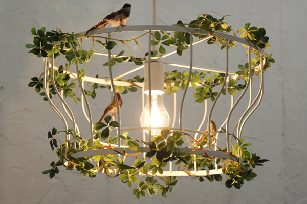 Half Fillo ( フィッロ ) pendant light green, small birds (LED for lighting, ceiling lighting, Scandinavian, ceiling light, living, cafe, design lighting, interior lighting, lighting fixtures, plant)