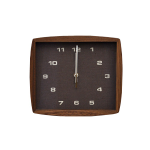 ■ La Luz Inc. (La Luce) ■ clock Form form c lock Brown (wall clock wall clock wooden simple tabletop solid material public facility platform school glass quiet bedroom living clock Interior natural)