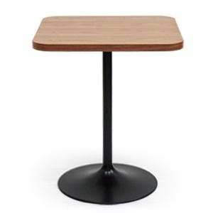 スリムカフェテーブルR 天然木突き板天板木種全2種(ダイニングテーブル 2人用 リビング 家具 天然木 セミオーダー シンプル ナチュラル 北欧 一人暮らし 二人暮らし ミッドセンチュリー インダストリアル オーク ウォールナット 小さめダイニングテーブル)