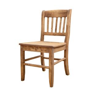 【送料無料】cafe style カフェスタイル ダイニングチェア2脚セットナチュラル カントリー 食卓椅子 イス 家具 インテリア 木目 ダイニング パイン材 天然木