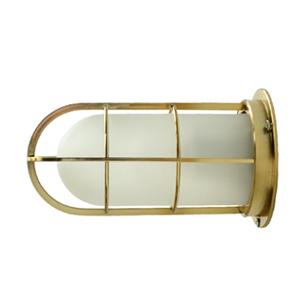 【送料無料】NAVE-DK-GS デッキライト ゴールド(つや消しガラス)(船舶 マリンランプ LED対応 玄関 インダストリアル 壁付け 天井 横向き インテリア 海 サーフ 屋外 玄関灯 ブラケットライト 外灯 門灯 店舗 防雨型 防湿型)照明