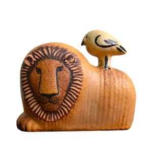 【送料無料】Lisa Larson (リサ・ラーソン) Lion with bird