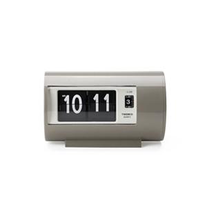 【送料無料】Twemco Alarm Clock #AP-28 トゥエンコアラームクロック グレー(置き時計 シンプル 卓上 目覚まし時計 アラーム時計 インテリア めざまし 男性ギフト プレゼント 新生活 フリップ時計 レトロ パタパタ時計 レトロクロック)