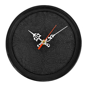 ♦ goodygrams ♦ ETRANGE CLOCK Black Lace, clock, analog clock, elegant, luxury modern, European, display goods, art, classic, Interior goods