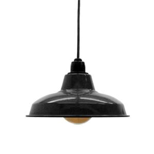 Retro enamel lamp 10-inch black (LED enamel, enamel, and it would, enamel, lighting and ceiling lighting, cafe, Nordic, ceiling, ceiling light, interior lighting, lighting living room dining Cafe, antique)