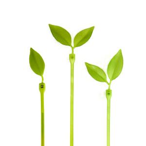 LeafTie(リーフタイ) エメラルドグリーン(小枝にみたてて可愛くひとまとめ!葉っぱ型のケーブル結束バンド 植物