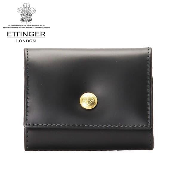 ETTINGER エッティンガー BRIDLE HIDE ブライドルレザー コインケース 小銭入れ ブラック/イエロー BH145JR
