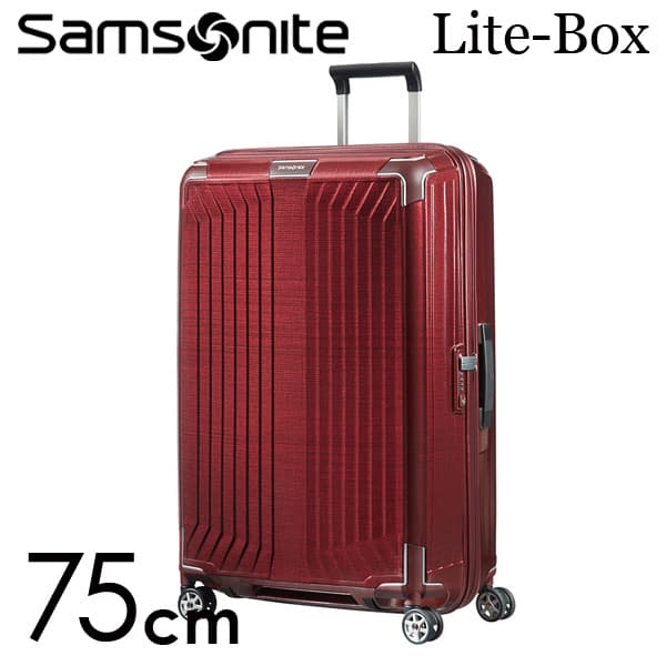 サムソナイト ライトボックス スピナー 75cm ディープレッド Samsonite Lite-Box Spinner 100L 79300