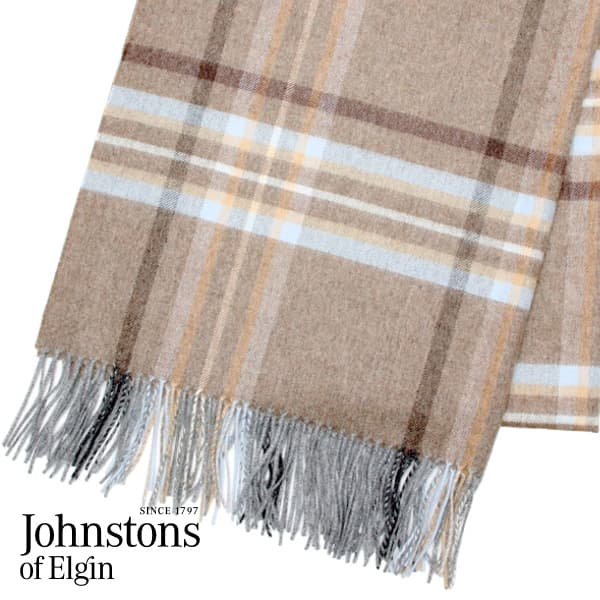 JOHNSTONS ジョンストンズ カシミア ストール タータンチェック ドライブリッジ 190×70cm DRYBRIDGE WA000056 KU0065